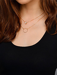 cheap -Women's Choker Necklace Pendant Necklace Chain Necklace Dangling Simple Style Fashion Euramerican Rhinestone Earrings Jewelry Gold / Silver For Daily Casual Outdoor clothing Going out Casual / Daily