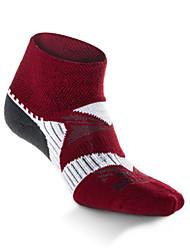 cheap -Compression Socks Athletic Sports Socks Running Socks 1 Pair Men's Women's Socks Ankle Socks Fitness, Running & Yoga Limits Bacteria Sports Running Sports Simple Cotton Chinlon White Red / Stretchy