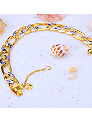 cheap -Chain Bracelet Cuban Ladies Punk Rock Fashion Hip-Hop Copper Bracelet Jewelry Gold For Christmas Special Occasion Birthday Party / Evening Office / Career Gift