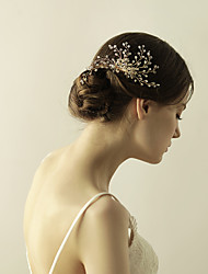 cheap -Crystal Hair Combs / Flowers 1 Wedding / Special Occasion / Anniversary Headpiece