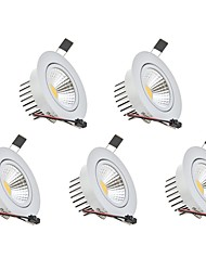cheap -3 W 1 LED Beads Dimmable LED Downlights Warm White Cold White 110-220 V Children's Room Living Room / Dining Room Bedroom / 5 pcs