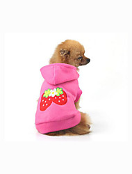 cheap -Dog Hoodie Sweatshirt Dog Clothes Fruit Cotton Costume For Spring &  Fall Men's Women's Casual / Daily