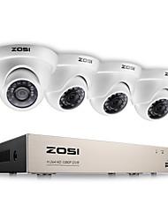 Недорогие -zosi® 2.0mp 1080p hd 4 ch dvr tvi комплект для наблюдения 4pcs 2000tvl для наружного и ночного видения камеры cctv system