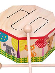 Недорогие -AOERFU Конструкторы Барабанная установка Обучающая игрушка Музыкальные инструменты Барабанная установка деревянный для Детские