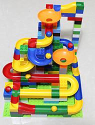 Недорогие -Мраморная беговая дорожка Треки для шариков Трек для шарика Игрушка STEAM Пластик Детские Универсальные Мальчики Девочки Игрушки Подарок 47 pcs