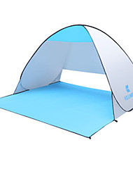cheap -KEUMER 2 person Beach Tent Outdoor Rain Waterproof Dust Proof Single Layered Camping Tent 1500-2000 mm for Camping / Hiking Poly / Cotton PU Leather / Polyurethane Leather Polyester