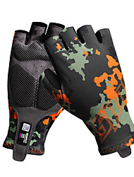 cheap -Bike Gloves / Cycling Gloves Mountain Bike MTB Breathable Anti-Slip Sweat-wicking Protective Fingerless Gloves Half Finger Sports Gloves Camouflage for Adults' Outdoor