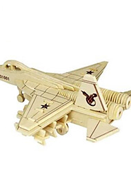 cheap -3D Puzzle Jigsaw Puzzle Model Building Kit Plane / Aircraft Fighter Aircraft DIY Simulation Wooden Natural Wood Classic Kid's Unisex Toy Gift