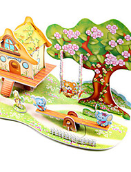 cheap -3D Puzzle Jigsaw Puzzle Model Building Kit Famous buildings Ship DIY Hard Card Paper Classic Anime Cartoon Kid's Unisex Boys' Girls' Toy Gift