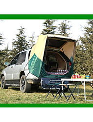 cheap -2 person Tent Truck Tent Outdoor Rain Waterproof Dust Proof Single Layered Camping Tent 1000-1500 mm for Camping / Hiking Polyester Taffeta Aluminium Alloy