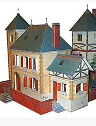 cheap -3D Puzzle Paper Craft House DIY Simulation Hard Card Paper Kid's Unisex Boys' Toy Gift