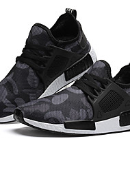 cheap -Men's Comfort Shoes Tulle Spring / Summer / Fall Athletic Shoes Running Shoes Black / Army Green / Lace-up / EU40