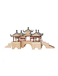 cheap -3D Puzzle Jigsaw Puzzle Wooden Model Famous buildings Chinese Architecture DIY Wooden Chinese Style Kid's Unisex Toy Gift