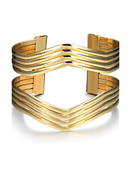 cheap -Women's Cuff Bracelet Wide Bangle Hollow Ladies Punk Fashion western style Alloy Bracelet Jewelry Gold For Christmas Gifts Birthday Gift Valentine