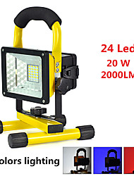 cheap -Handheld Flashlights / Torch 2000 lm LED LED 24 Emitters 3 Mode Alarm Impact Resistant Emergency Super Light High Power Camping / Hiking / Caving Everyday Use Cycling / Bike Black / Yellow