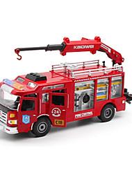 Недорогие -1:50 Пластик Пожарная машина Игрушечные грузовики и строительная техника Игрушечные машинки Детские Игрушки на солнечных батареях