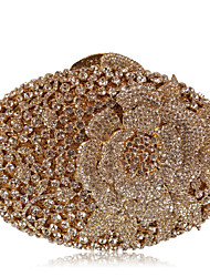 cheap -Women's Bags Metal Evening Bag Rhinestone Crystal Sparkling Glitter for Wedding / Party / Event / Party Golden yellow / Purple / Peach / Orange / Rhinestone Crystal Evening Bags
