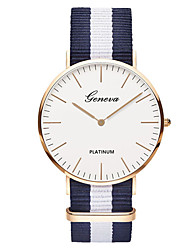 cheap -Geneva Men's Wrist Watch Analog Quartz Ladies / One Year / Nylon