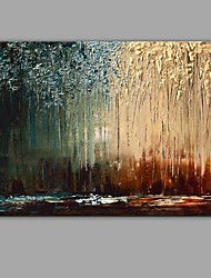 cheap -Oil Painting Hand Painted - Abstract Abstract Canvas