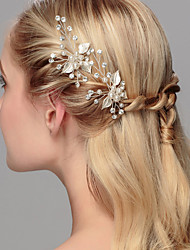 cheap -Crystal / Imitation Pearl Hair Pin with 1 Wedding / Special Occasion / Anniversary Headpiece