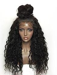 abordables -Perruque Lace Front Synthétique Kinky Curly Bouclé profond Très Frisé Bouclé Coupe Dégradée Partie libre Lace Frontale Perruque Long Noir Rouge Rose Cheveux Synthétiques Femme avec des cheveux de