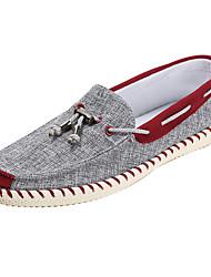 cheap -Men's Comfort Shoes Fabric Spring / Fall Boat Shoes Burgundy / Blue / EU40
