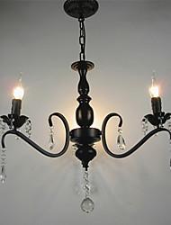 cheap -3-Light 52 cm Chandelier Metal Black Chic & Modern 110-120V / 220-240V