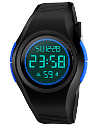 cheap -SKMEI Men's Sport Watch Military Watch Wrist Watch Digital Fashion Water Resistant / Waterproof Digital Black Red Blue / Two Years / Quilted PU Leather / Japanese / Alarm / Calendar / date / day