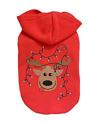 cheap -Dog Hoodie Winter Dog Clothes Red Costume Cotton Reindeer Christmas S M L XL