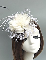 cheap -Gemstone & Crystal / Tulle / Net Fascinators / Hats / Headpiece with Crystal / Feather 1 Wedding / Party / Evening / Event / Party Headpiece