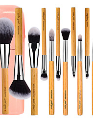cheap -Professional Makeup Brushes Makeup Brush Set 12 Travel Blending Premium flawless Buffing Stippling Concealer Synthetic Hair / Artificial Fibre Brush Beech Wood for Cream Liquid Powders