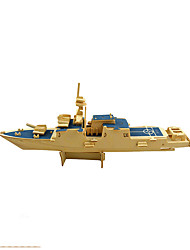 cheap -3D Puzzle Jigsaw Puzzle Model Building Kit Warship Aircraft Carrier Wooden Aircraft Carrier Kid's Unisex Boys' Toy Gift