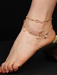 abordables -Femme Bracelet de cheville Goutte Mode Le style mignon Bracelet de cheville Bijoux Dorée Pour Décontracté Sport de détente Vacances