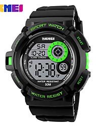 cheap -SKMEI Men's Sport Watch Wrist Watch Digital Watch Digital Quilted PU Leather Black Hot Sale Digital Charm Fashion - Green Blue Golden