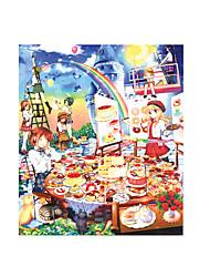 Недорогие -1000 pcs Мультяшная тематика Продукты питания Пазлы Головоломка для взрослых Огромный деревянный Аниме Взрослые Детские Игрушки Подарок