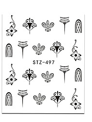 cheap -20pcs set hot fashion nail art water transfer decals gorgeous jewelry necklace lovely cat beautiful flower butterfly design diy decoration stz497 500