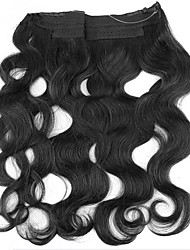 cheap -Flip In Human Hair Extensions Body Wave Human Hair Extensions Women's Natural Black
