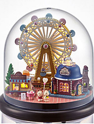 cheap -CUTE ROOM Balls Model Building Kit DIY Furniture House Plastics Wooden Glass Classic Unisex Toy Gift