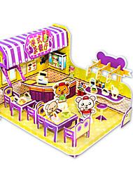 cheap -3D Puzzle Jigsaw Puzzle Model Building Kit Famous buildings DIY Card Paper Classic Cartoon Kid's Unisex Toy Gift
