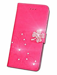 cheap -Case For Asus Asus Zenfone V V520KL / Asus ZenFone Max ZC550KL / Asus Zenfone 5 Rhinestone / Flip / Embossed Full Body Cases Mandala / Butterfly Hard PU Leather