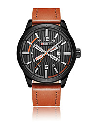 cheap -Men's Sport Watch Skeleton Watch Military Watch Quartz Genuine Leather Multi-Colored 50 m Water Resistant / Waterproof Calendar / date / day Creative Analog Ladies Charm Classic Casual Fashion -