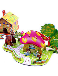 cheap -3D Puzzle Jigsaw Puzzle Model Building Kit Famous buildings House DIY Hard Card Paper Classic Anime Cartoon Kid's Unisex Boys' Girls' Toy Gift