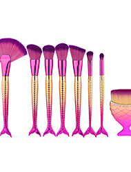 cheap -8pcs-pink-fish-shape-makeup-fan-brush-professional-mermaid-soft-eye-cosmetics-beauty-make-up-brushes-set-kabuki-kit-maquiagem