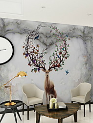 cheap -Pattern Home Decoration Modern Wall Covering, Non-woven fabric Material Adhesive required Mural, Room Wallcovering