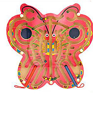 cheap -Maze Magnetic Maze 1 pcs Wooden Iron Magnetic Butterfly Girls' Kid's Toy Gift