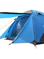 cheap -BSwolf 4 person Tent Outdoor Waterproof Rain Waterproof Dust Proof Double Layered Camping Tent >3000 mm for Camping / Hiking Terylene Aluminium