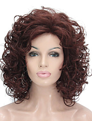 cheap -Synthetic Wig Curly Curly Wig Blonde Short Auburn Light Blonde Jet Black Orange Synthetic Hair Women's Blonde StrongBeauty