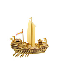 cheap -Jigsaw Puzzle Model Building Kit Wooden Model Ship DIY Wooden Classic Kid's Unisex Toy Gift