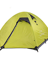cheap -Trackman® 4 person Backpacking Tent Outdoor Rain Waterproof Dust Proof Foldable Double Layered Camping Tent 1500-2000 mm for Camping / Hiking Outdoor Nylon Polyester Taffeta