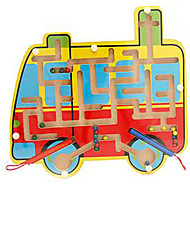 cheap -Toy Car Maze Magnetic Maze Magnetic Wooden Iron Kid's Girls' Toy Gift 1 pcs